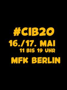 16./17. Mai, 11 bis 19 Uhr im MfK Berlin