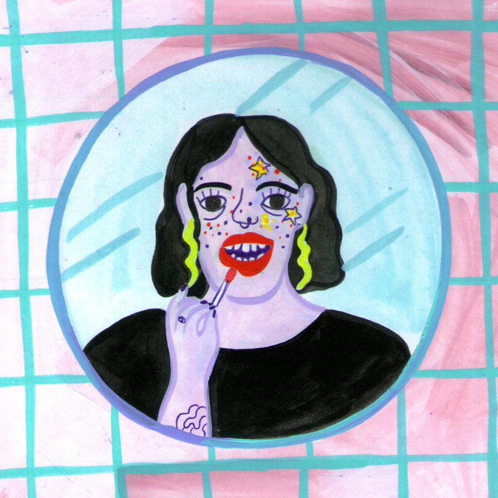 Jazmín Varela gezeichnetes Porträt