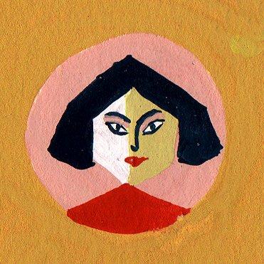 Gezeichnetes Selbstporträt von María Luque