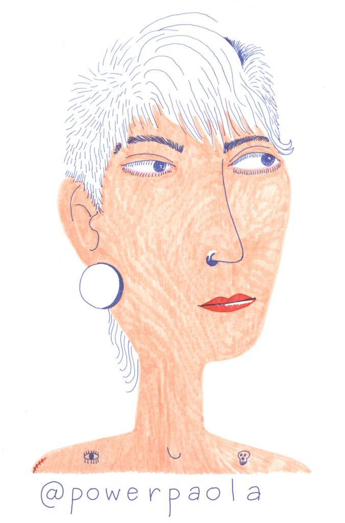 Powerpaola gezeichnetes Portrait