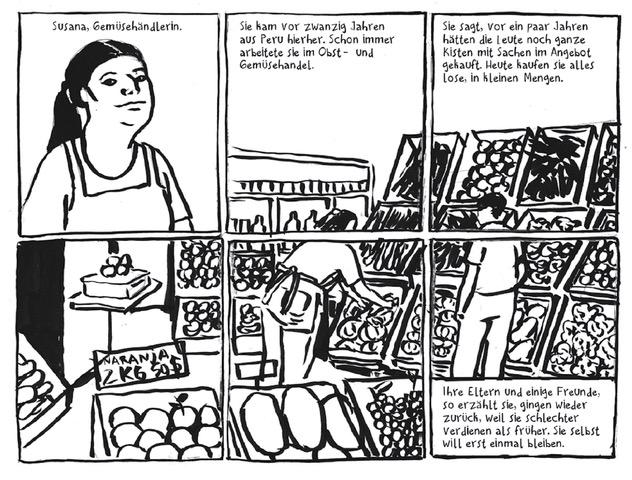 Comic Seite aus dem Strapazin