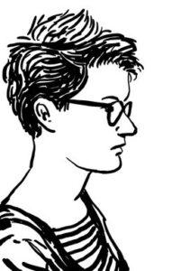 Gezeichneites Selbstportrait von Nacha