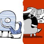 Gott versus Papa Dictator! Livezeichnen mit Aike Arndt und Mic